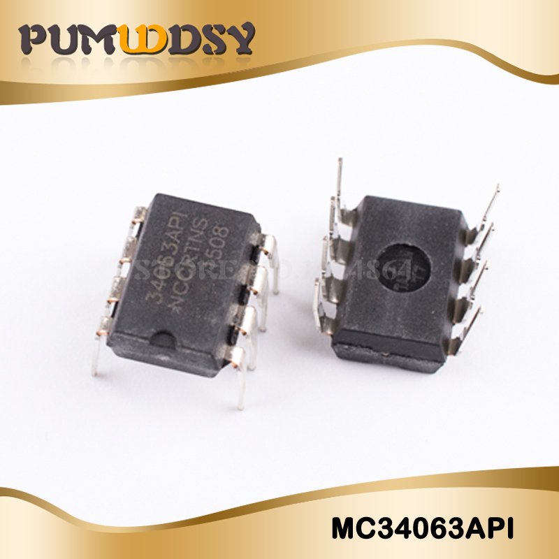 10PCS/Lot MC34063 MC34063A MC34063API 34063 DIP-8  Chip New Wholesale