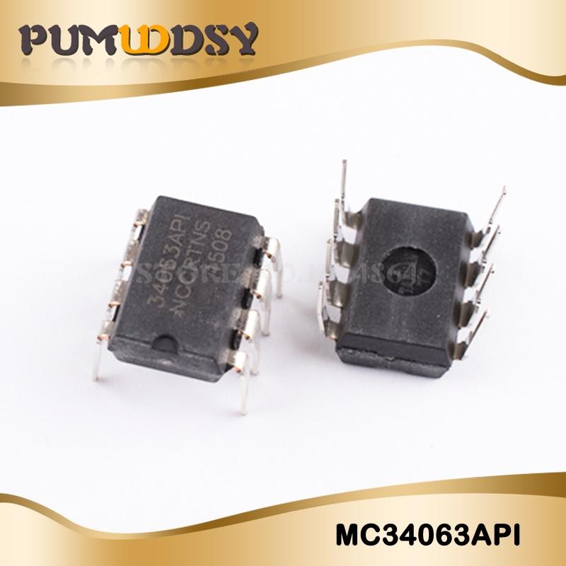 10PCS/Lot MC34063 MC34063A MC34063API 34063 DIP-8  Chip New Wholesale