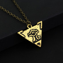 MQCHU Yu-Gi-Oh Necklace Anime Yugioh Millenium Pendant Jewelry Toy Yu Gi Oh Cosplay Pyramid Egyptian Eye Of Horus Necklace(China)