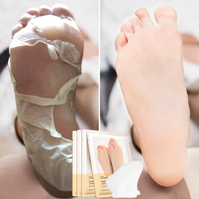 Füße Hautpflege GroßZüGig 5 Pack = 10 Stücke Schnecke Peeling Füße Maske Peeling Socken Baby Fuß Pediküre Socke Entfernen Abgestorbene Haut Nagelhaut Socken Für Fuß Hautpflege