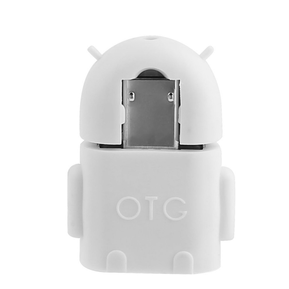 Robot Shape Micro USB 2.0 Converter Host Male to USB Female OTG Adapter For Android Tablet PC Computer Phone