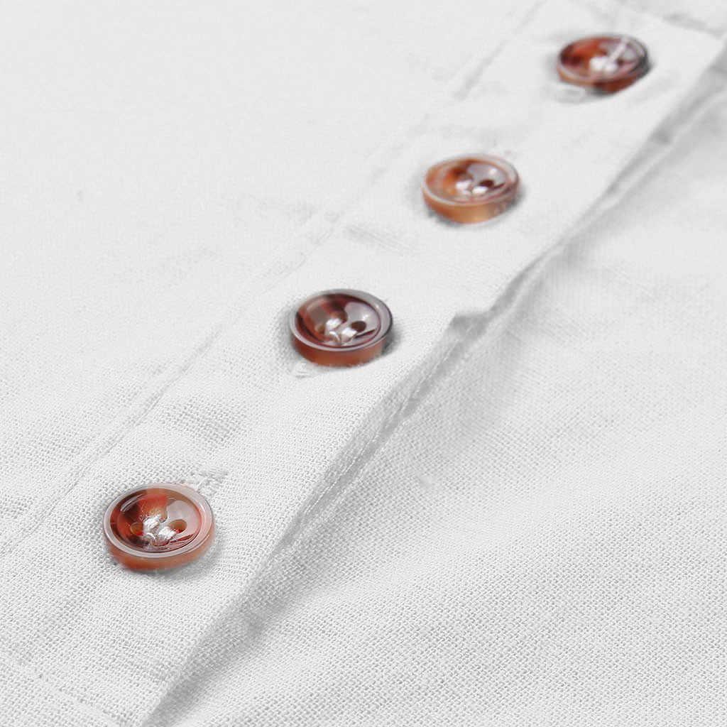 Topos De Linho das mulheres Casual O Pescoço 3/4 Algodão de Manga Comprida Blusa blusa de frio feminina chiffon top chemise femme blanche topos chiffon