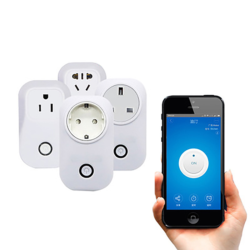 1Pc Wifi Wireless Remote Control Socket Smart Home Power Socket Via App Phone Smart Timer Home Plug Smart Hardware Tools gorelax uk wifi wireless remote control socket smart timer plug smart home power socket uk standard via app phone