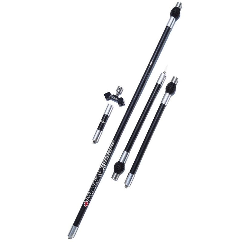 Archery Stabilizer Carbon Balance Rod Archery Balance Bar Damping Rod Shock Absorber Damper for Recurve Compound Bow dmar recurve bow archery stabilizer balance rod v bar damping rod shock absorber bow hunting accessories