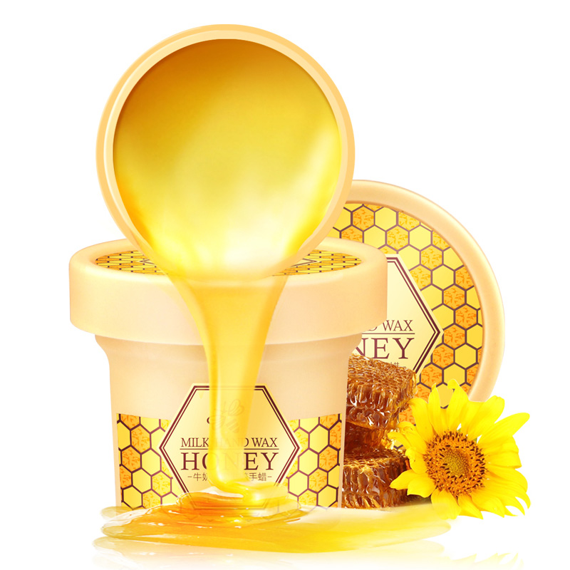 Milk Honey Hand Wax Paraffin Bath Hand Mask Whitening Exfoliating Moisturizing Anti Wrinkles Hand Care Hand Drop Ship