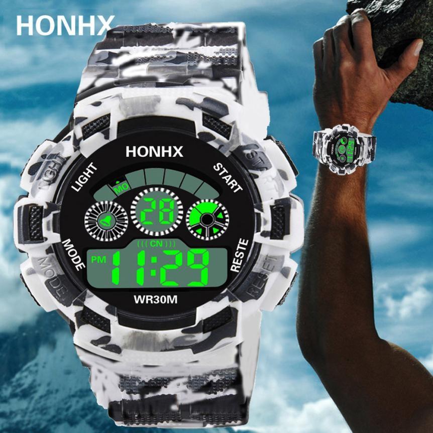 Digitale Uhren Herrenuhren Luxus Mens Elektronische Uhr Uhren Herren Damen Gummi Digitale Led Uhr Alarm Datum Sport Armband Digital Military Armbanduhr
