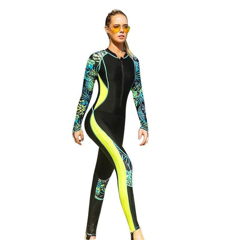 Combinaison de bain en Lycra pour femmes, à séchage rapide, ensemble de bain rembourré pour surf et pêche à la neige, Triathlon, 2018