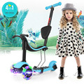 2-16 ages MI-DOU 4 in 1 Children's scooter 3 Wheels Scooter with Light up big wheel patinete 3 rodas