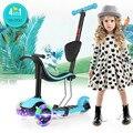 2-16 edades MI-DOU 4 en 1 Para Niños scooter de 3 Ruedas Scooter con Luz hasta noria patinete 3 rodas