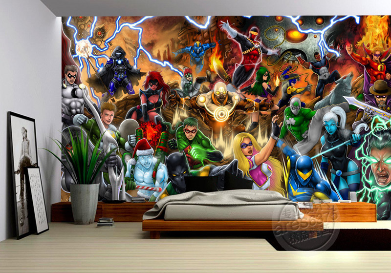 Perfect Avengers Photo Wallpaper Marvel Comics Wall Mural Custom 3D Wallpaper  Children Bedroom Office Hotel School Room Decor Super Hero In Wallpapers  From Home ... Good Ideas