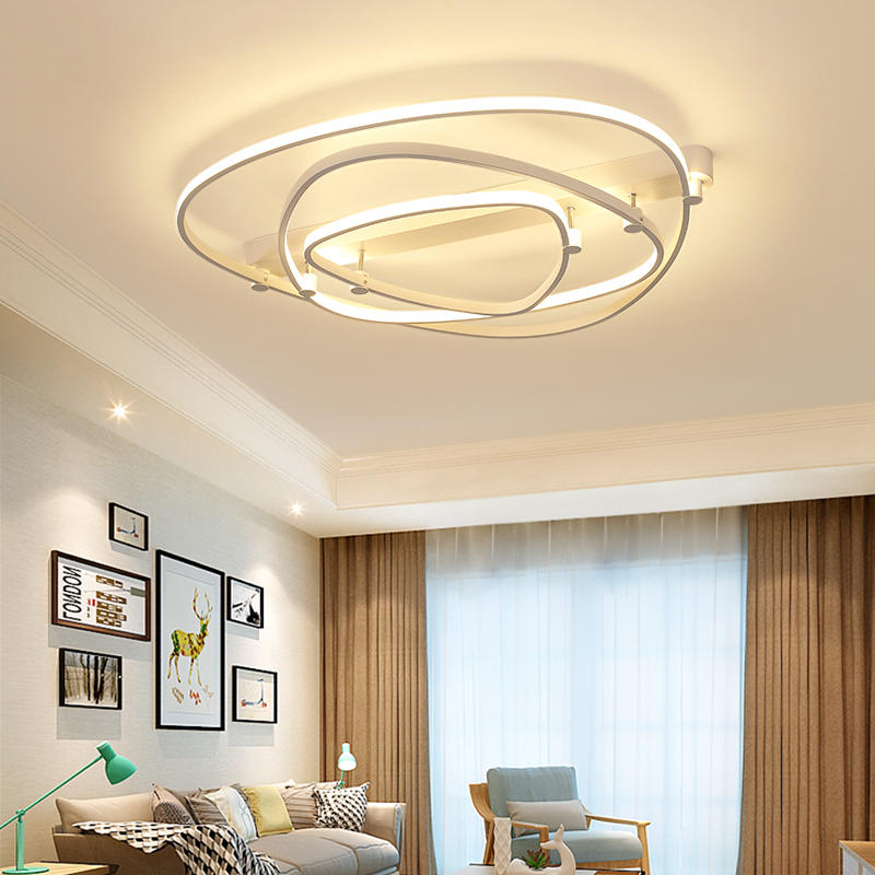 N Rectangle Acrylic Aluminum Modern Led ceiling lights for living room bedroom AC85-265V White Ceiling Lamp Fixtures neo gleam rectangle modern led ceiling lights for living room bedroom white or black aluminum 85 265v ceiling lamp free shipping