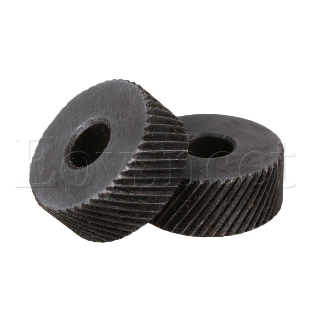 2x Silver 1mm Anti Slip Diagonal Coarse Knurling Wheel For Metal Lathe