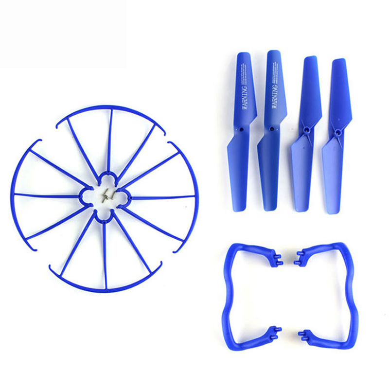 Original Syma X5 X5A X5C Toys Spare Parts Set 2pcs Landing Gear+4pcs Blade Propeller + 4pcs Protect Ring for RC Quadcopter Drone syma x5uc x5uw rc drone spare parts engines gear propeller landing gear skid protectors ring lampshade accessories