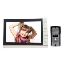 9 Pulgadas a Color LCD de Video Teléfono de La Puerta Sistema de Intercomunicación de vídeo citofonoVideo Timbre con cámara de INFRARROJOS
