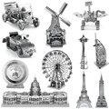 Venda direta de Montagem 3D Puzzles De Metal Para Aço Inoxidável Adulto Jigsaw Educacional Crianças Brinquedos Criativos Presente de Natal Ano Novo