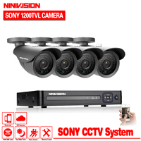 Video Surveillance 8ch 960h CCTV DVR HVR NVR System For Ip 800tvl Security Camera Kit With