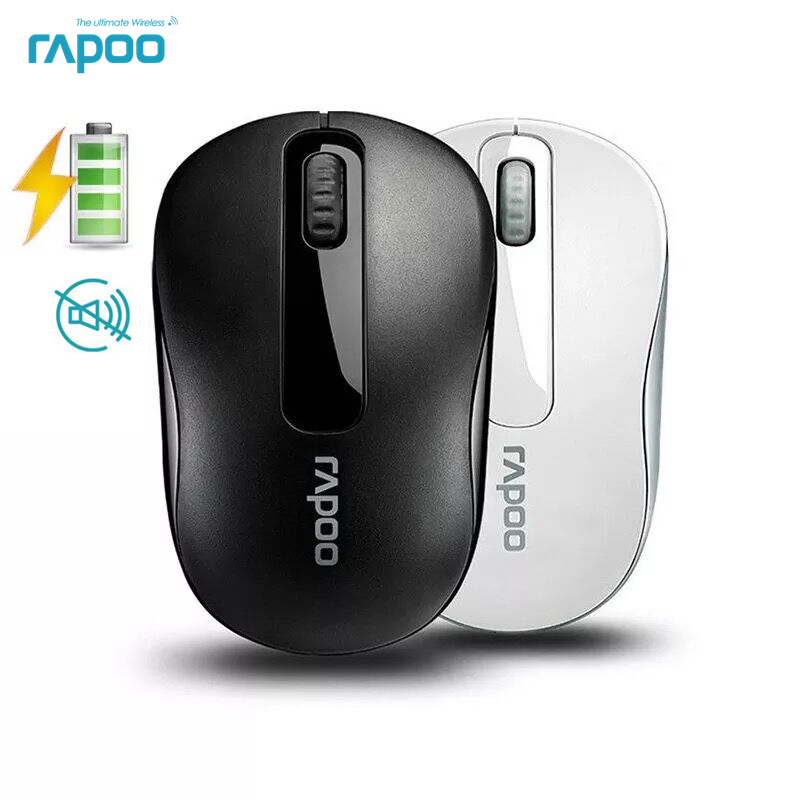 Original Rapoo M217 Optical Silent Wireless Rechargeable Mouse 2.4G Reliable 1000DPI Mini Mouse For Computer Laptop Desktop ...