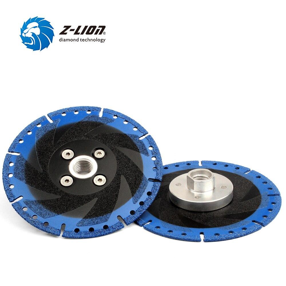 Z LION 2 Pcs 5 Vacuum Brazed Diamond Cutting Disc M14 or 5 8 11 Flange