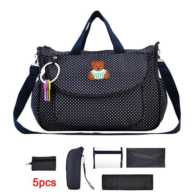 4pcs/set multifunctional baby diaper bag baby nappy bag mummy maternity bag ladies messenger handbag tote bolsa maternidade
