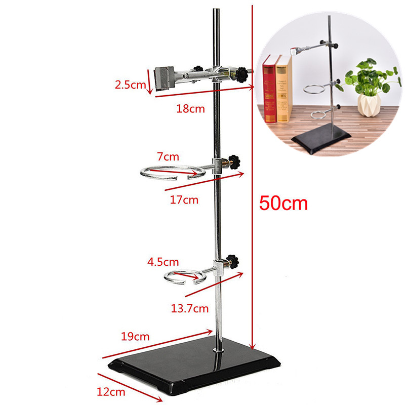 1Set Iron Support With Clamp Clip in Laboratory Distilling Stand School supplies