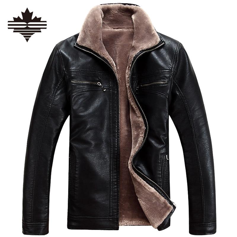 Winter leather jackets Men Faux Fur Coats Men's Leather Jacket Casual Motorcycle Leather Jacket Thicken Overcoat For Man 5XL 4XL