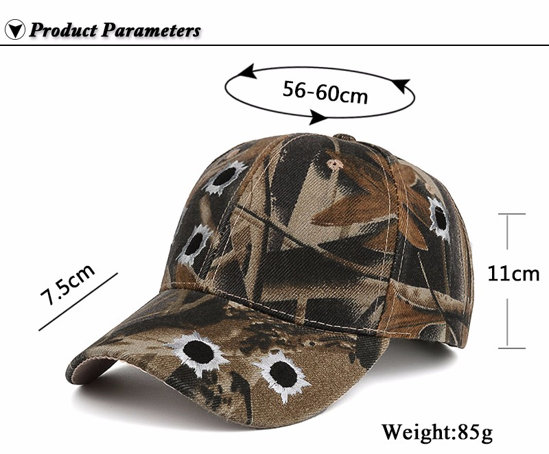 Camouflage Hunting Baseball Cap - Product Parameters