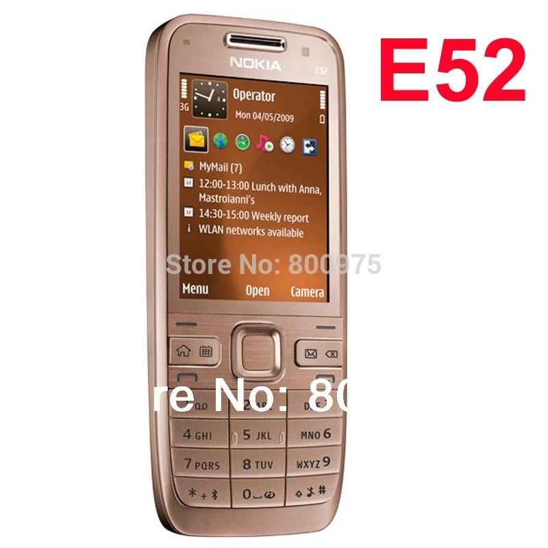 Original Nokia E52 Mobile Phone Bluetooth WIFI GPS E52 3G Cell Phone Russian Keyboard Arabic Keyboard