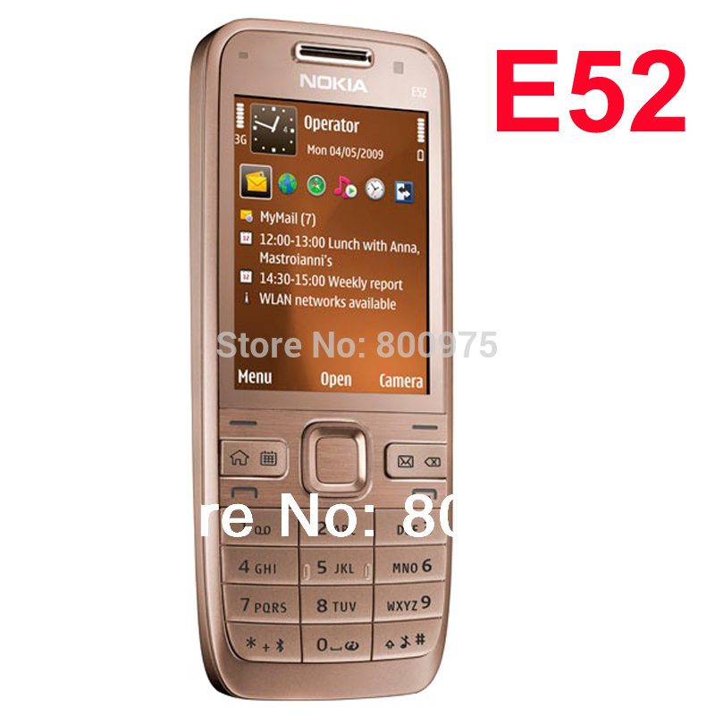 Cellphones & Telecommunications Original Nokia E52 Mobile Phone Bluetooth Wifi Gps E52 3g Cell Phone Russian Keyboard Arabic Keyboard & One Year Warranty Excellent In Cushion Effect