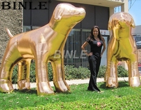 2018 hot sale giant luxury inflatable gold dog balloon large animal model for advertising
