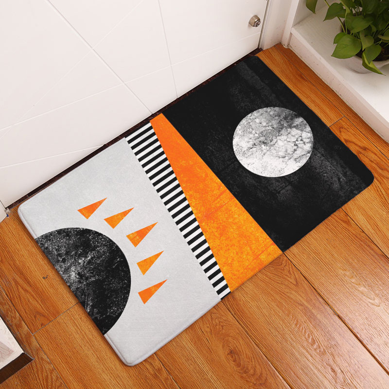 decorUhome Nordic Anti Slip Door Mat Waterproof Abstract Paint Sun Carpets Bedroom Rugs Decorative Stair Mats Home Decor Crafts-in Mat from Home \u0026 Garden on ... : nordic door mat - pezcame.com