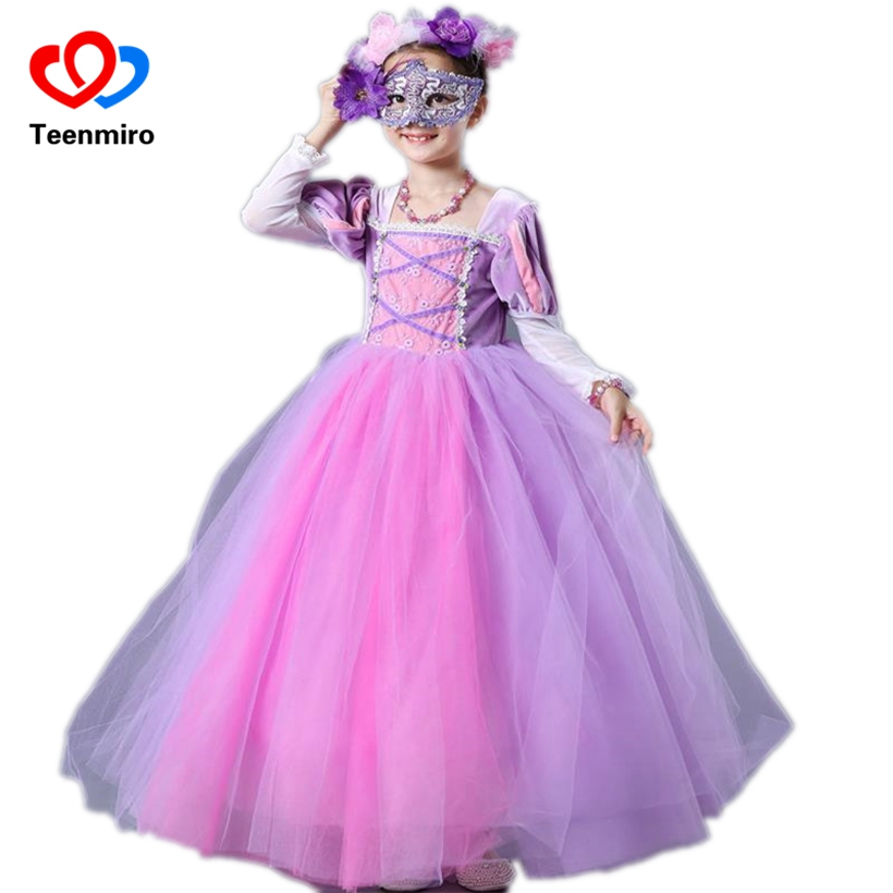 Baby Sofia Cosplay Costume for Girls Dress Kids Halloween Birthday Party Princess Tutu Dresses Children Fancy Ball Gown Clothes 4pcs gothic halloween artificial devil vampire teeth cosplay prop for fancy ball party show