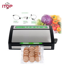 ITOP Household Food Vacuum Sealer Packing Machine Electric Vacuum Packer With Vacuum Storage Bags Kitchen Food Processors