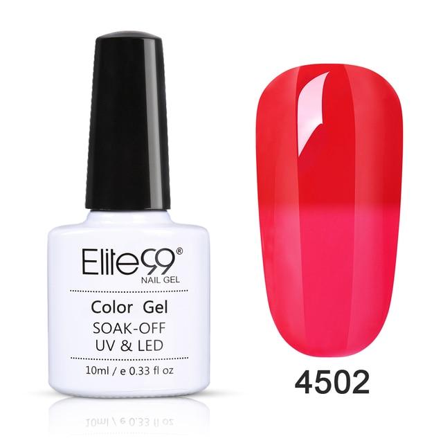 Elite99 10 ml Wein Rot Gel Tränken Weg Chameleon UV Gel Nagellack Temperatur Farbe-ändern Nagel Kunst design Gel Lacke
