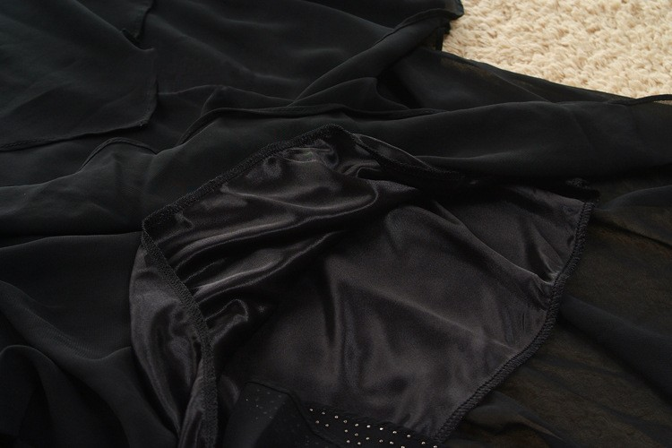 Vestido De Festa Summer Dresses 5XL Plus Size Women Clothing ropa mujer 18 Chiffon Dress Party Short Sleeve Casual Blue Black 25