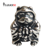 925 Sterling Silver Year of the Dog Beads for Jewelry Making Animal Charms Fits Original Troll Bracelet & Necklace