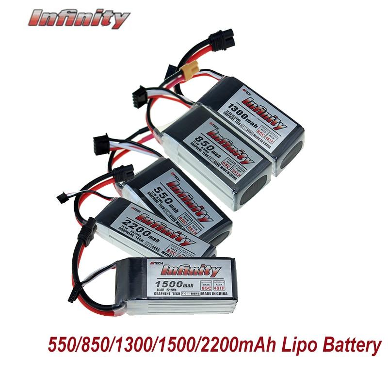 Infinity LiPo Lithium Battey 550/850/1300/1500/2200mAh 3S 11.1V 4S 14.8V 85C XT30 JST SY60 Plug For FPV Racing Drone QuadcopterInfinity LiPo Lithium Battey 550/850/1300/1500/2200mAh 3S 11.1V 4S 14.8V 85C XT30 JST SY60 Plug For FPV Racing Drone Quadcopter