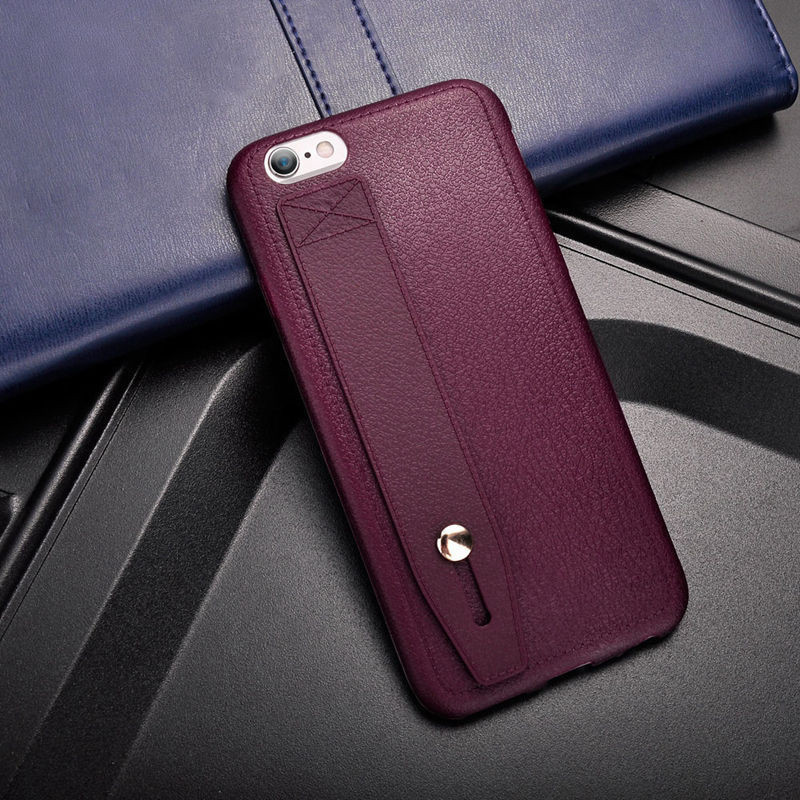 Luxury Leather Cases For iphone X 8 Plus Vintage PU Leather Soft TPU Holder Belt Stand Case Cover For iPhone 7 7 Plus 6s 6 Plus