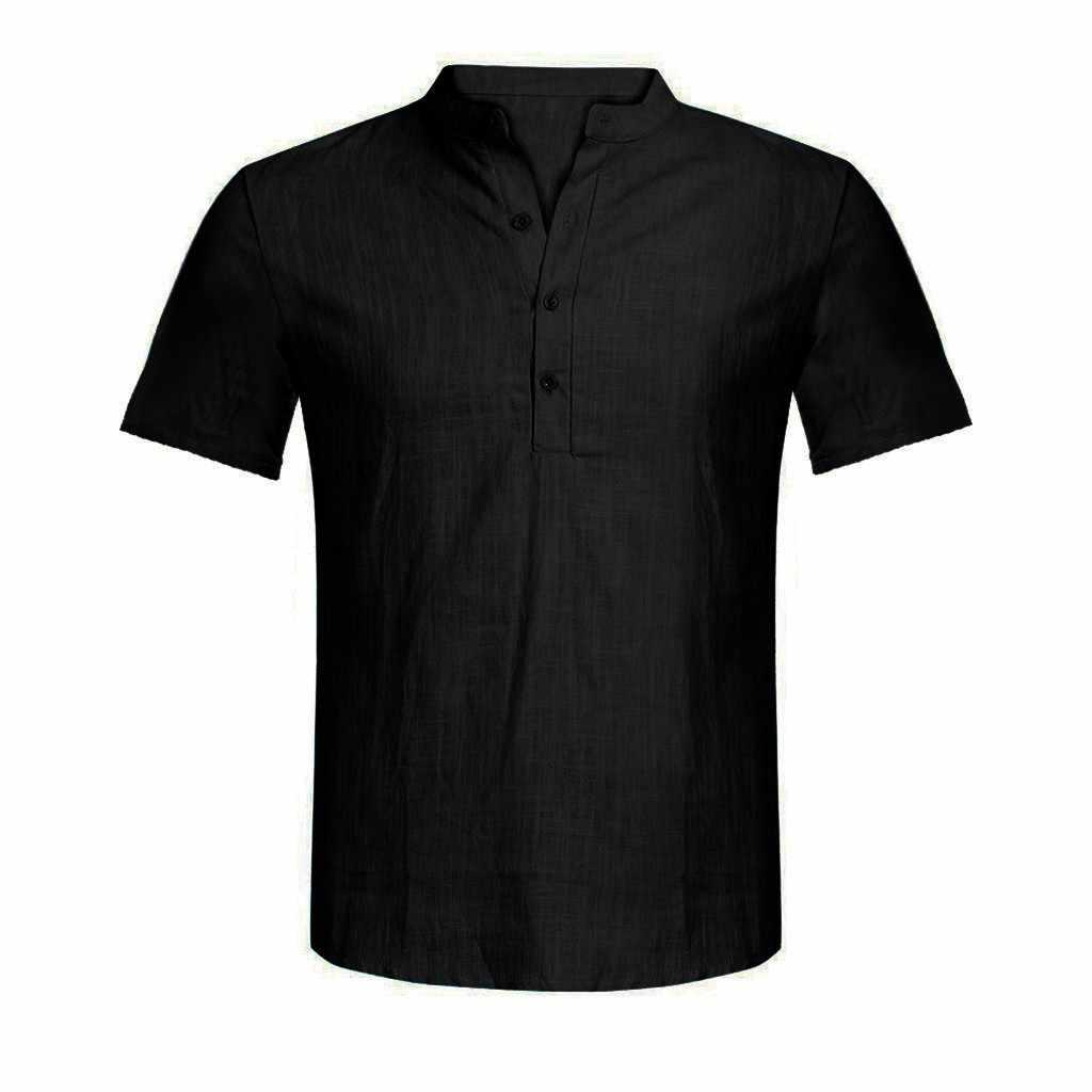 JAYCOSIN 男性のカジュアルブラウスコットンリネン Tシャツトップス半袖 Tシャツ O ネックカジュアル男性 Tシャツ S-XXL 月 10