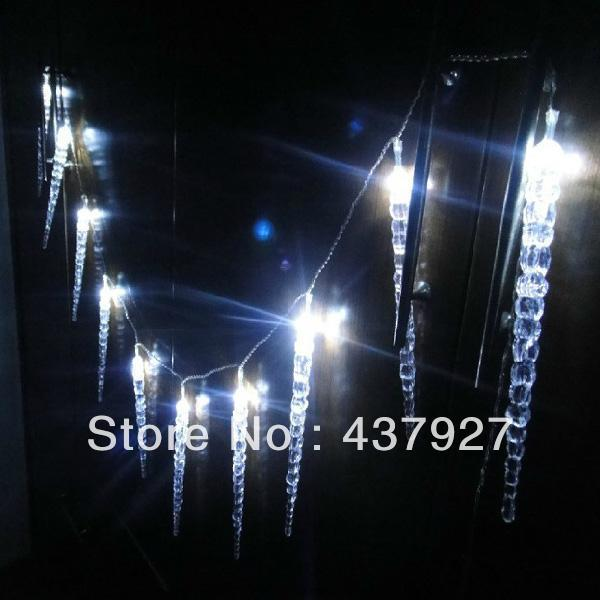 10m 100 led clear whiteblue dripping icicle shape christmas lights string lights christmas party