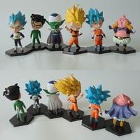 Dragon Ball Z 6pcs/set Gokou Gohan Action Figures Vegeta Piccolo Majin Buu PVC figure Toys Brinquedos Anime EF5