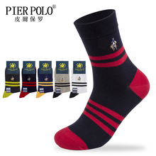 PIER POLO High Quality New Arrival Brand 5 Pairs/lot Men Socks Cotton stripe Classic Mens Deodorant Breathable Dress Sock