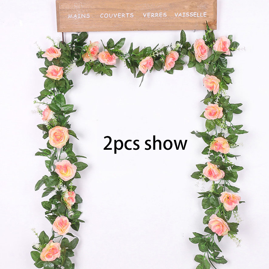 Silk Rose Artificial Hanging Flowers for Wall Decoration Wedding Home Decor 4