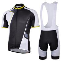 3D Silicone North 2013 1 Black Bib Short Sleeve Cycling Jersey Clothes Bicycle Bike Riding Jersey