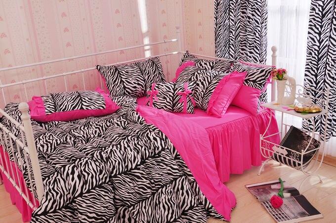 Online Shop 100  cotton princess four piece bedding set 100  cotton bed  dress zebra print bedding   Aliexpress Mobile. Online Shop 100  cotton princess four piece bedding set 100