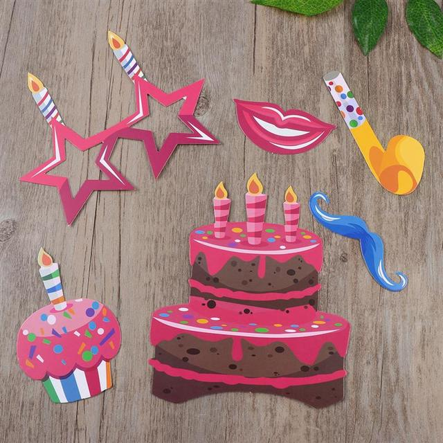 Photobooth Props for Birthday Party 22 pcs Set