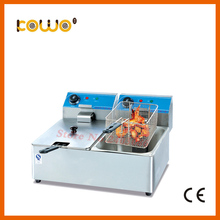 ce rohs square electric fryer 16L stainless steel kitchen potato chips chicken deep frying machine double