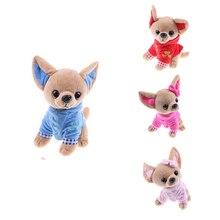 1 шт., 17 см, детская игрушка для щенка, Kawaii, Имитация животных, кукла, подарок на день рождения для девочек, детская милая плюшевая игрушка для ...