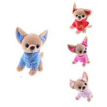 1 pçs 17cm filhote de cachorro crianças brinquedo kawaii simulação animal boneca presente de aniversário para meninas crianças bonito brinquedo de pelúcia do cão