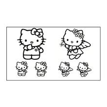 Waterproof Temporary Tattoo Sticker 10.5×6 Cm Hello Kitty Cat Flash Tattoos For Men Girl Boy