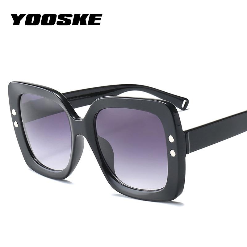 c15f9d9f482 Detail Feedback Questions about YOOSKE Square Oversized Sunglasses Women  Luxury Brand Designer Transparent Gradient Sun Glasses Big Frame Vintage  Eyewear ...